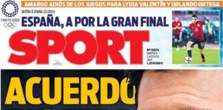 Sport, la prima pagina di oggi 3 agosto 2021