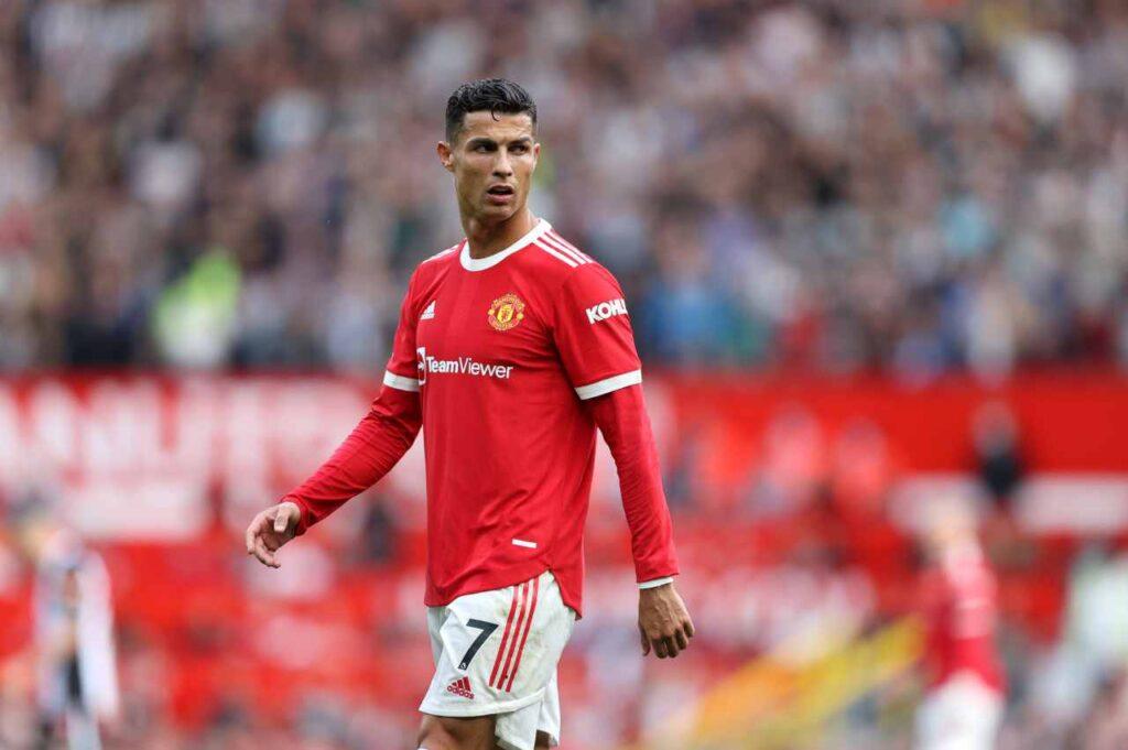 Cristiano Ronaldo esulta dopo la doppietta: nuova frecciata alla Juventus