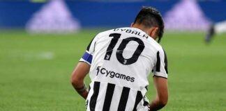 Infortunio in Juventus-Sampdoria, Dybala esce in lacrime