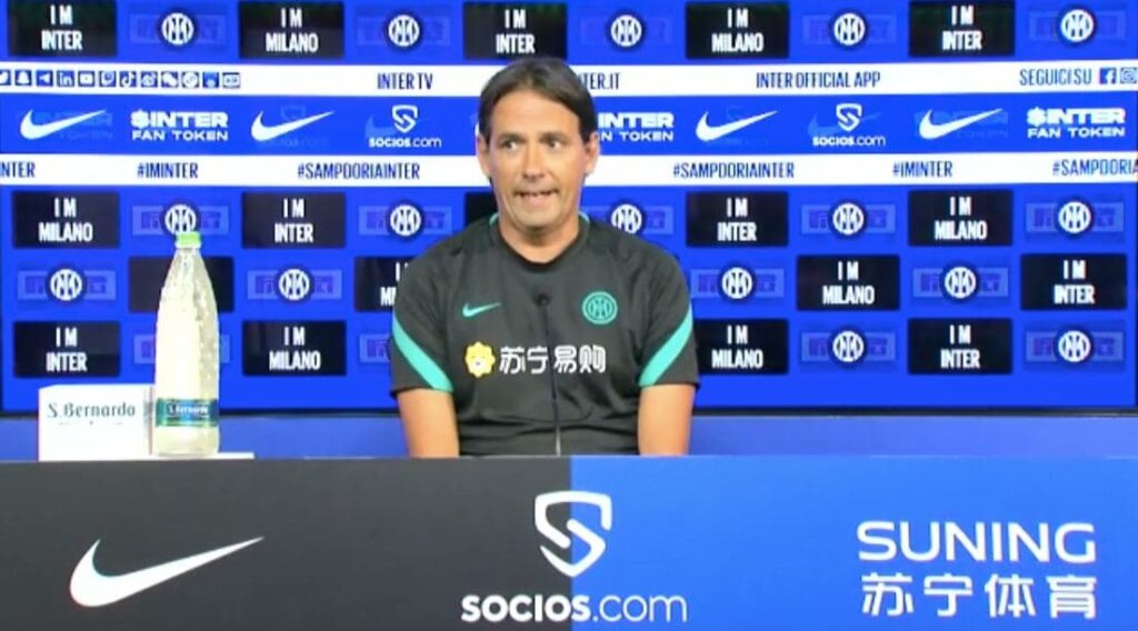 Inzaghi in conferenza