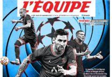 L'Equipe, la prima pagina di oggi 28 settembre 2021