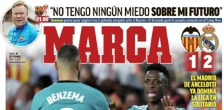 Marca, la prima pagina di oggi 20 settembre