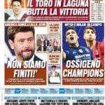 TuttoSport, la prima pagina di oggi 28 settembre 2021