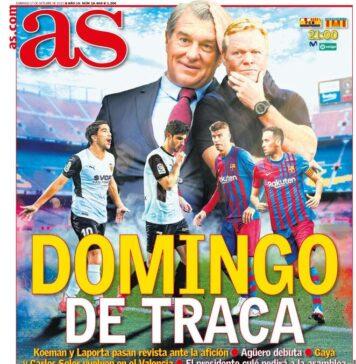 AS, la prima pagina di oggi 17 ottobre 2021