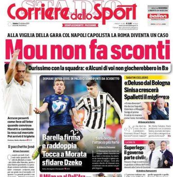 Corriere dello Sport, la prima pagina di oggi 23 ottobre