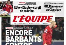 L'Equipe, prima pagina del 21 ottobre 2021