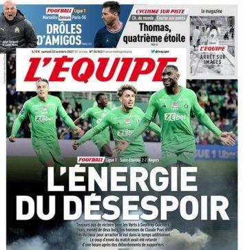 L'Equipe, la prima pagina di oggi 23 ottobre