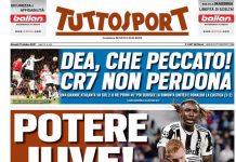 TuttoSport, la prima pagina del 21 ottobre 2021